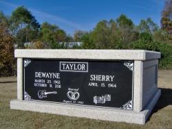 Side-by-side basic mausoleum in Rainsville, AL