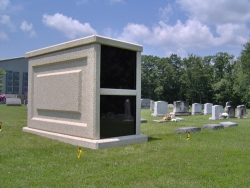 Over-and-under (stack) basic mausoleum in Mineral, VA