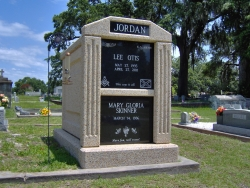 Over-and-under (stack) deluxe mausoleum with fluted columns in Biloxi, MS