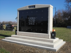 20-niche columbarium with two vases in Litchfield, Illinois