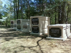 A family bought 3 basic over-and-under mausoleums, 1 basic single mausoleums and 2 columbaria in Naftel, AL