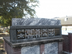 6-niche columbarium deep gray in Biloxi, MS
