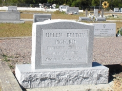 Single granite upright headstone in Ocean Springs, MS