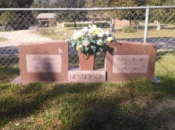 This is a morning rose granite double upright headstone with a vase in Saucier, MS