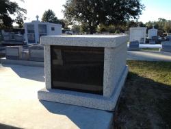 Single basic light gray mausoleum in Bay St. Louis, MS