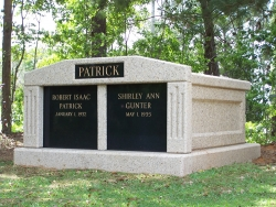 Side-by-side deluxe mausoleum with fluted columns in Grand Bay, AL
